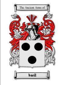 BASIL Coat of Arms BASIL Family Crest History Print Bonanza