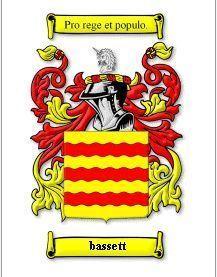 BASSETT Coat of Arms BASSETT Family Crest History Print Bonanza
