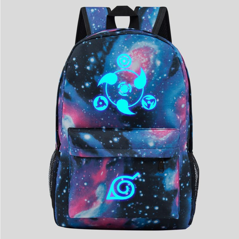 Naruto Luminous Theme Backpack Schoolbag Daypack Bookbag Sharingan Starry Sky - $23.99
