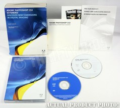 Adobe Photoshop CS3 Extended Retail with Serial Software DVDs & Start Guide 2007 - $197.99