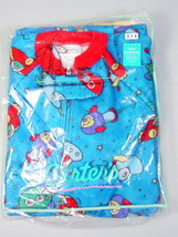 Carter's Boys Footed pajamas PJs size 3 Space rockets Non-skid 1 Piece Vintage - $26.23