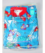 Carter's Boys Footed pajamas PJs size 3 Space rockets Non-skid 1 Piece V... - $26.23