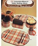 Table Setting Idea Fashion Ease Plastic Canvas Book 667 Columbia-Minerva... - $9.77