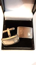 uk engraved Cufflinks cuff link with crystal in each design . gift boxed cufflin