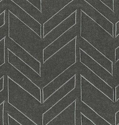 1.375 yds Brentano Upholstery Fabric Arrow Wool Chainlink Gray 3808-03 GG