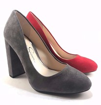 Jessica Simpson Belemo Suede Leather Round Toe Thick Heel Pumps Choose S... - $79.00