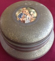 """VINTAGE MUSIC BOX W/METAL TOP & SIGNED WOOD BOTTOM PLAYS """"SOUTH PACIFIC - $18.50"""