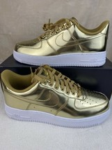 Nike Air Force 1 Low White Metallic Gold Women's Shoes Size 9.5 CQ6566-700 - $113.83