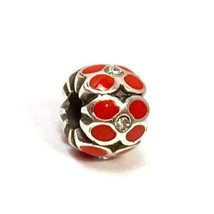 Brighton Mini Ring Of Flower Bead, Red, J9574D, Fits Mini Only, New - $8.54