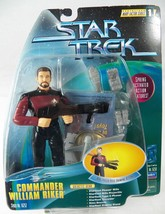 Star Trek Warp Factor 1 Commander William Riker 16252 Action Figure NRFP... - $8.79
