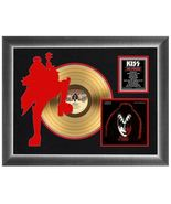 """""""Gene Simmons Solo"""" Matted and Framed 18"""" x 24"""" 24k Gold LP - """"The Demon"""" - $209.99"""