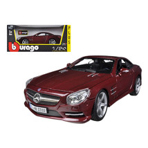 Mercedes SL 500 Coupe Red 1/24 Diecast Car Model by Bburago 21067r - $31.82