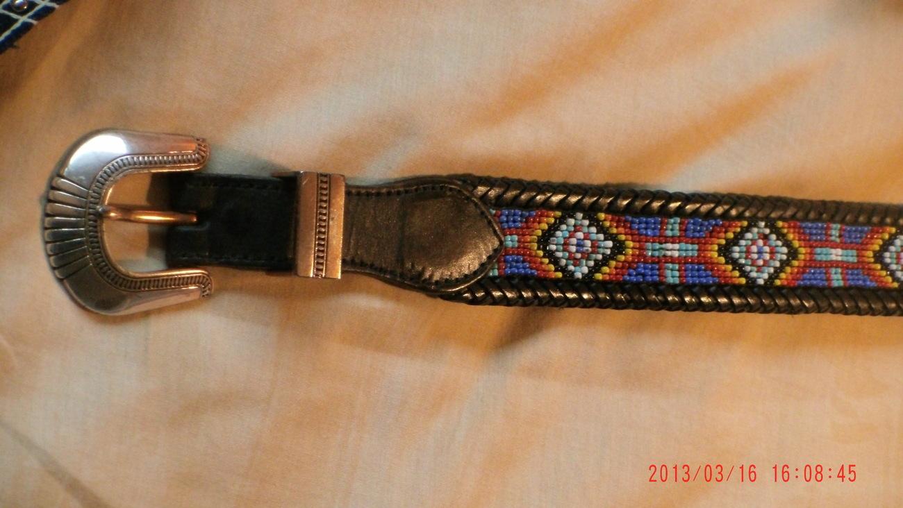7 pc COWBOY Theme OUTFIT Chaps VEST Red Hat 2 Beaded Belts Seal Skin Belt +drape