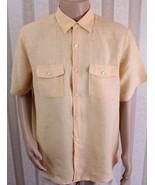 BANANA REPUBLIC Men's XL 17-17 1/2 Multi-Color Check Button Up 100% Line... - $27.08