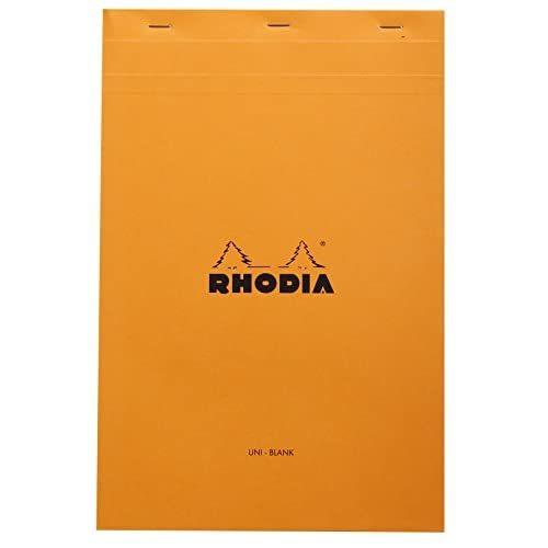 Rhodia No.19 A4+ Plain Orange Detached Pad  - $25.00