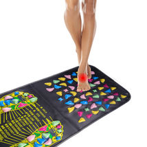 Acupressure Mat Pad Massager Foot Leg Square Walk Reflexology in Stone N... - $305,45 MXN
