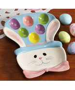 Easter Egg Bunny Ceramic Serving Platter - $12.95