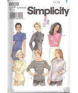 Uncut Size 12 14 16 18 Knit Tops Hoodie Hoody Simplicity 8809 Pattern 1... - $6.99