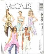 Uncut Size 4 6 8 10 Tunic Flutter Halter Top McCalls 4453 Pattern  - $8.99