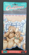 Outlines Wall Paper Border Teddy Bears Bunnies Imperial Sculpted Border ... - $22.99