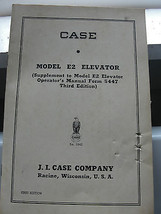 J.I. Case, Model E2 Elevator manual, old, farming - $26.17