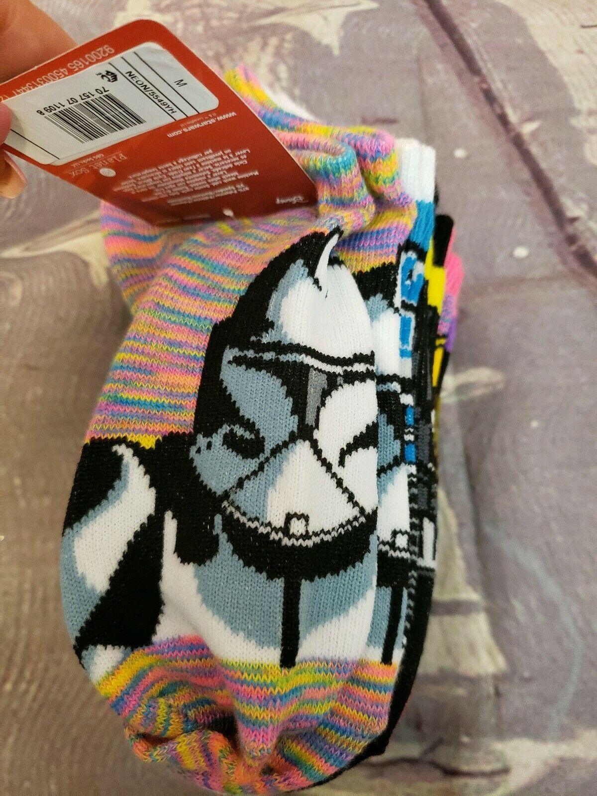 Disney Star Wars Girls No Show Ankle Socks 6 pairs Size M Youth (9- 2.5) image 3