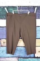 Karen Kane Brown Stretch Slim Crop Dress Pants Plus 22W 3X Career Office... - $29.69