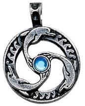 Nordic Lights Viking Celtic Dolphin Triskilian Pendant Amulet Wicca LARP... - $29.95