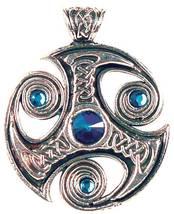 Nordic Lights Viking Celtic Jewelled Trefot Pendant Amulet Wicca Ritual ... - $29.95