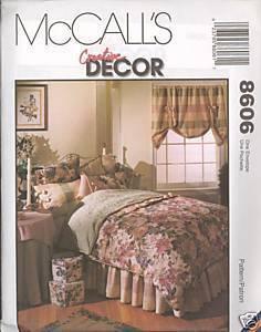 New Creative Decor Pillow Sham Duvet Cover Curtain McCalls 8606 Pattern McCall's