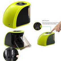 Dual Hole Green Portable Electric Pencil Sharpener for Kids Teachers  Ar... - $14.29