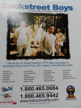 Backstreet Boys Black & Blue Tour Ets Flyer 2001 Mint Condition BSB With... - $9.50