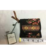 Vera Bradley Tri-fold Wallet Hook & Loop Closure Chocolat Pattern Floral... - $23.36