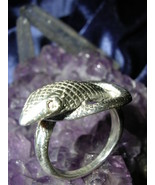 Silver Snake Ring Protection Wealth & Power Magick Wicca Metaphysical haunted - $99.99