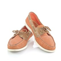 Sperry Top-Sider Orange Sparkle Leather Boat Shoes Loafers Comfort Shoes... - $39.41