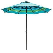 Abba Patio Outdoor 9-Feet Table Umbrella with Auto Tilt and Crank, Turqu... - $89.13