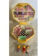 Vintage Polly Pocket 1990 Polly's Hair Salon Compact Complete w/ Bonus Doll - $37.61