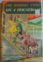 BOBBSEY TWINS ON A HOUSEBOAT #6 Laura Lee Hope hcdj - $12.00