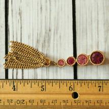 vintage Sarah Coventry pink rhinestone tassel brooch pin - $9.40