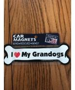 Imagine This I Love My Grandogs Bone Shaped Car Magnet Ships N 24h - $5.92
