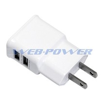 2-Port USB Charger Travel Wall Plug Adapter for Samsung Galaxy S4 S5 Not... - $6.48