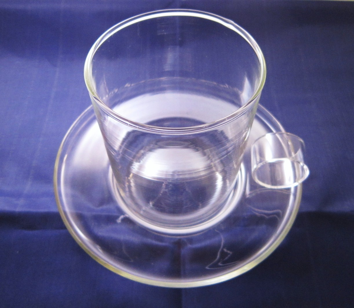 Un-Candle Set Jack Be Nimble Cup and Saucer 1970s made by Corning - $9.99