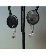 PETITE Unicorn Dangle Drop Earrings .925 Sterling Silver NOT Plated Hand... - $13.69