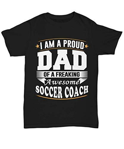 Soccer Coach Dad Shirt Funny Tee Birthday Gifts from Daughter and Son for Men Da