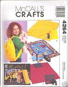 New Fleece Blanket Seat Cushion Carrier Duffle McCalls 4264 Sewing Pattern McCall's