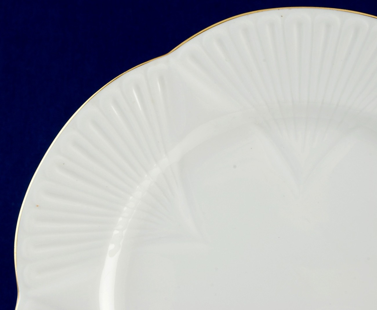 Shelley Regency White Snack Plate Only Dainty Shape No Cup