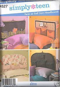 New Andrea Schewe Simply Teen Headboards Simplicity 4527 Sewing Pattern Simplicity