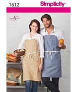 Simplicity 1512 Men's & Misses' Apron Pattern S-M-L - $10.95