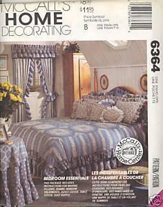 New Duvet Cover Pillow Sham Curtain Drape McCalls 6364 Pattern McCall's