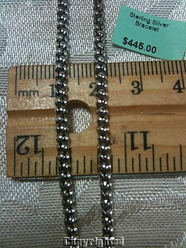 "Estate Popcorn Style Necklace Antiqued 925 Sterling Silver 5.60 Grams 16"" 2.5mm"